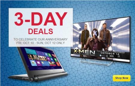Best Buy 3-Day Deals (Oct 10-12)