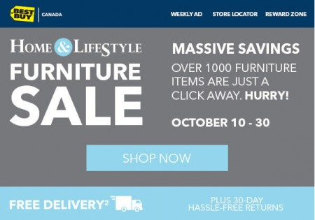 Best Buy Furniture Event - Savings on 1,000+ Furniture Items (Until Oct 30)