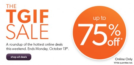 Chapters Indigo TGIF Sale - Save up to 75 Off Hottest Online Deals (Oct 10-13)