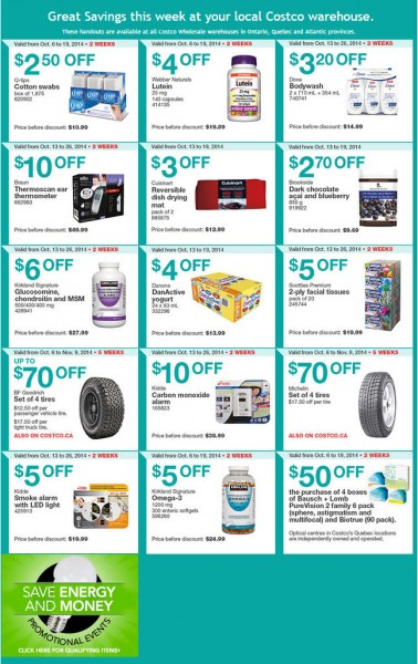 Costco Weekly Handout Instant Savings Coupons East (Oct 13-19)