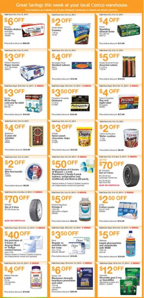 Costco Weekly Handout Instant Savings Coupons East (Oct 6-12)