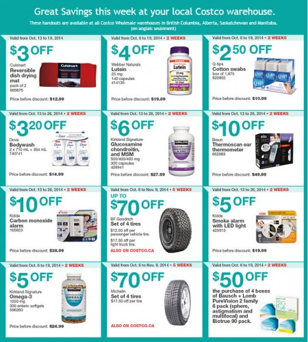 Costco Weekly Handout Instant Savings Coupons West (Oct 13-19)