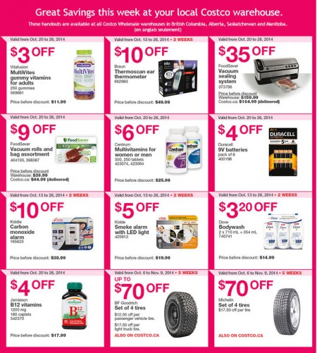 Costco Weekly Handout Instant Savings Coupons West (Oct 20-26)