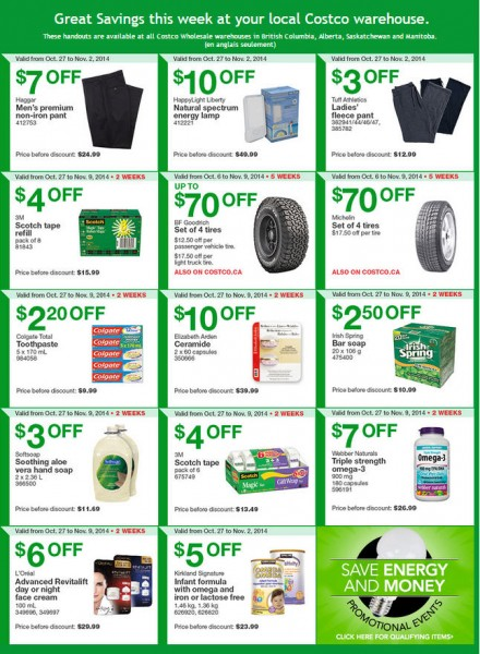 Costco Weekly Handout Instant Savings Coupons West (Oct 27 - Nov 2)