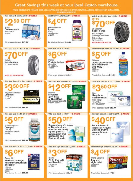 Costco Weekly Handout Instant Savings Coupons West (Oct 6-12)
