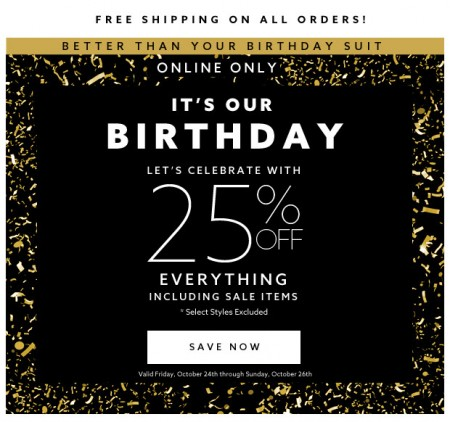 Dynamite Birthday Sale - 25 Off Your Purchase + Free Shipping (Oct 24-26)