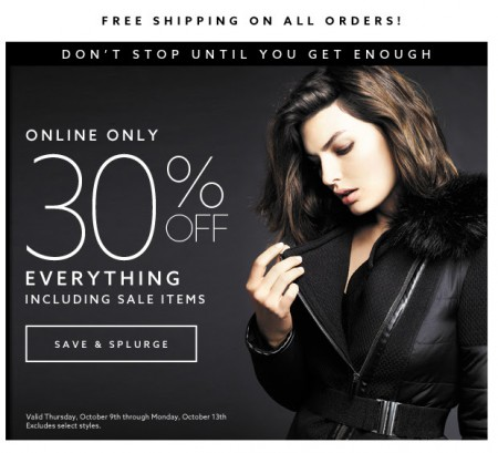 Dynamite Clothing 30 Off Everything + Free Shipping (Oct 9-13)