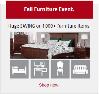 Future Shop Fall Furniture Event - Huge Savings of 1,000+ Furniture Items (Until Oct 30)