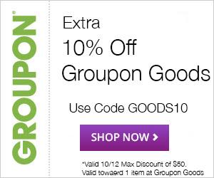 Groupon Extra 10 Off Goods Deal Promo Code (Oct 10-12)