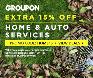 Groupon Extra 15 Off Home or Auto Services Deal Promo Code (Oct 3-4)