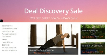 Groupon.com Deal Discovery Sale - Up to an Extra 30 Off Select Deals (Until Oct 13)