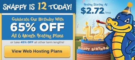 HostGator Birthday Sale - 65 Off Web Hosting Packages (Oct 22 Only)