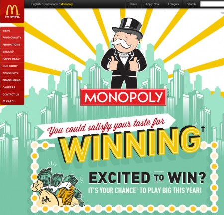 McDonald's Monopoly is Back at McDonalds