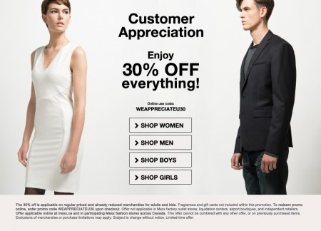 Mexx Customer Appreciation Sale - 30 Off Everything Sitewide (Until Oct 29)