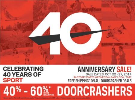 Sport Chek 40th Anniversary Sale (Oct 22-27)