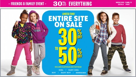 The Children's Place Friends & Family Event - 30-50 Off Entire Site + Extra 30 Off Everything Coupon (Until Oct 19)