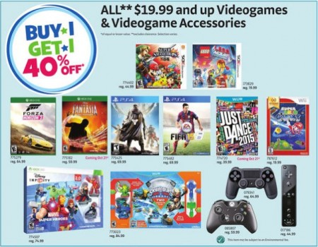 Toys R Us Video Games - Buy 1, Get 1 40 Off (Until Oct 23)