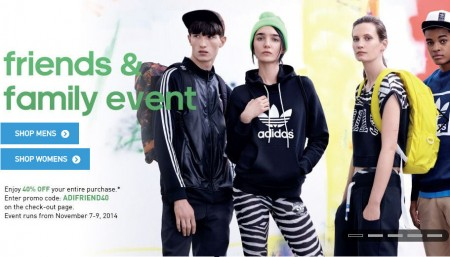 Adidas Friends and Family Event 40 Off Your Entire Purchase (Nov 7-9)