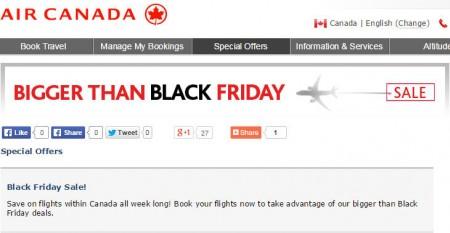 Air Canada Black Friday Seat Sale (Book by Dec 1)