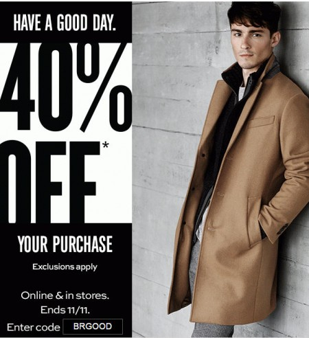 Banana RepubliC 40 Off Your Purchase In-Stores and Online (Until Nov 11)