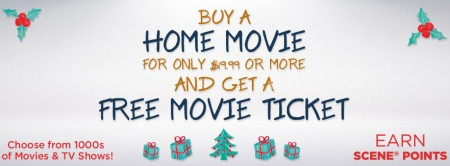 Cineplex Store Get a Free Movie Ticket when you Buy a Home Movie + Free Shipping (Until Dec 22)