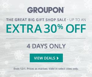 GROUPON Black Friday - Up to an Extra 30 Off Select Deals (Nov 28 - Dec 1)