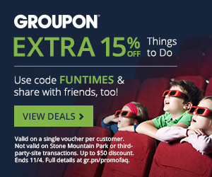 GROUPON Extra 15 Off Things To Do Promo Code (Nov 3-4)