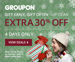 GROUPON Up to an Extra 30 Off Select Local Deals (Nov 21-24)
