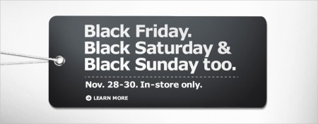 IKEA Black Friday, Saturday and Sunday (Nov 28-30)