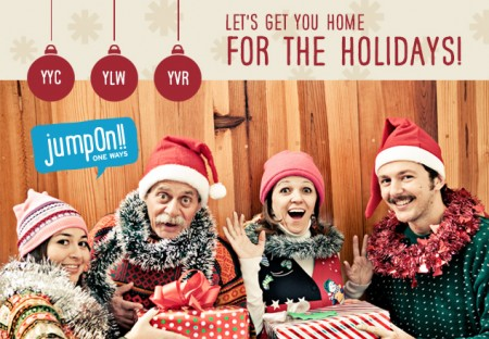 JumpOn Flyaways Home for the Holidays - Discounted Airfares (Dec 20, Dec 28, Jan 4)