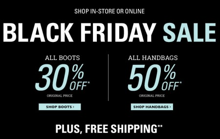Naturalizer Black Friday Sale - 30 Off All Boots and 50 Off All Handbags + Free Shipping (Nov 28)