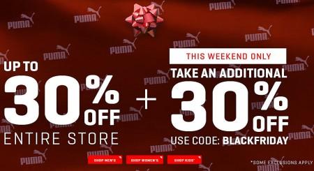 PUMA Black Friday Sale - Up to 30 Off + Extra 30 Off Promo Code + Free Shipping (Nov 26-30)