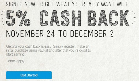 PayPal Get 5 Cash Back on Your Holiday Shopping (Until Dec 4)