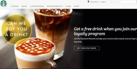 Starbucks Free Drink when you join Starbucks Rewards Loyalty Program