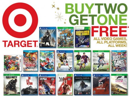 Target Video Games - Buy 2, Get 1 Free (Until Nov 13)