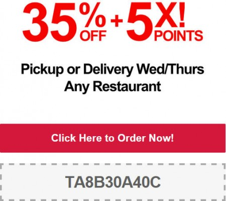 TasteAway Promo Code - 35 Off Pickup or Delivery at Any Restaurant (Nov 12-13)
