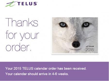 Telus FREE 2015 Calendar