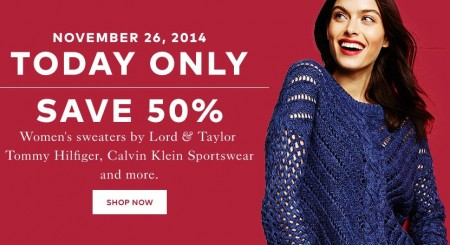 TheBay One Day Sale - 50 Off Women's Sweaters (Nov 26)