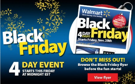 Walmart Canada Sneak Peak at Black Friday Flyer (Nov 28 - Dec 1)