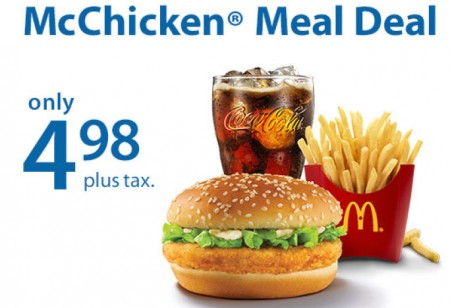 Mcdonalds Meal Deal Mcchicken Meal Deal Coupon