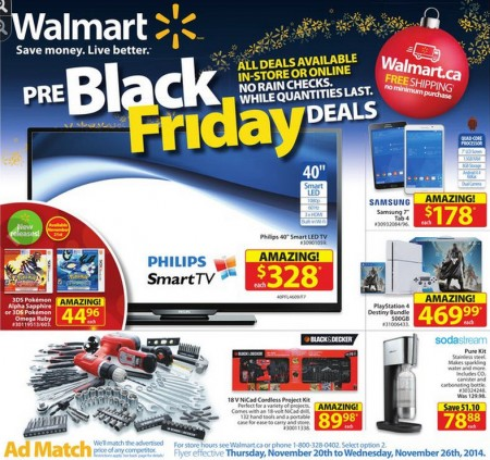 Walmart pre black friday deals nov 20 26 calgary for Las vegas hotels black friday deals
