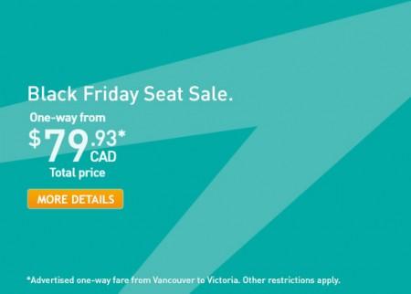 WestJet Black Friday Seat Sale (Book by Dec 1)