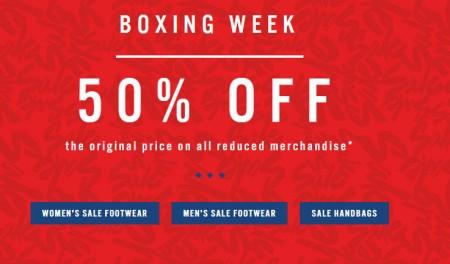 ALDO Boxing Week Sale - 50 Off Original Price on all Reduced Merchandise (Dec 26 - Jan 4)