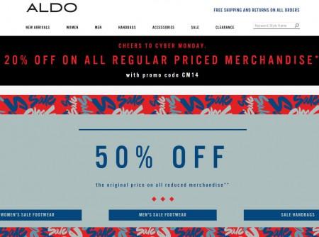 ALDO Cyber Monday Sale - 20 Off All Regular Priced Merchandise + Free Shipping (Dec 1)