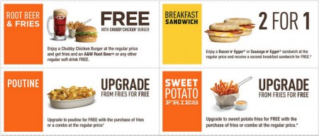 A&W New Printable Coupons (Until Dec 14)