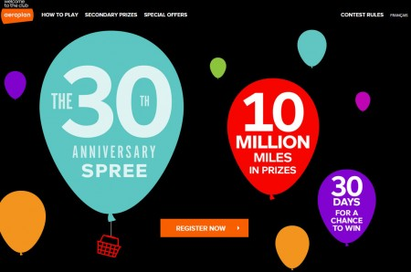 Aeroplan 30th Anniversary Spress - 10 Million Miles in Prizes (Untill Dec 23)