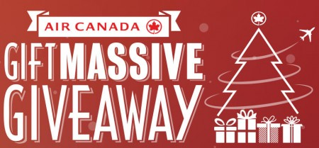 Air Canada Giftmassive Giveaway - Play Everyday for Chance to Win (Until Dec 24)