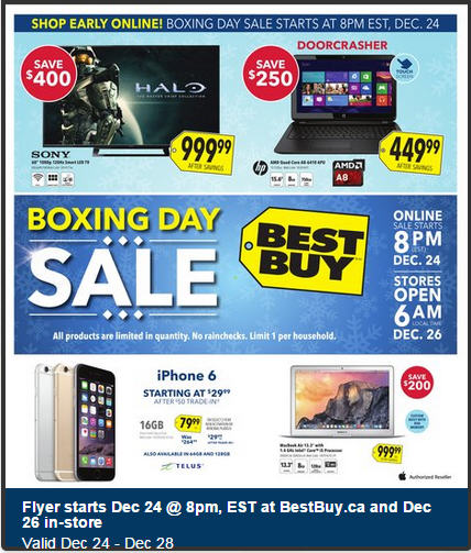 Best Buy Boxing Day Sale - Preview Flyer Now