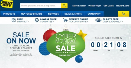 Best Buy Cyber Monday Sale (Dec 1)