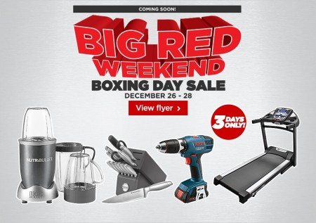 Canadian Tire Boxing Day Sale - Big Red Weekend (Dec 26-28)